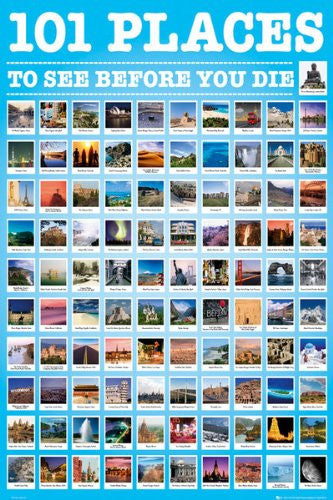 101 Places To See Before You Die (24x36) - ARC32647
