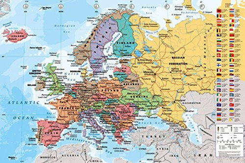 NAT90023 - European Map 24x36