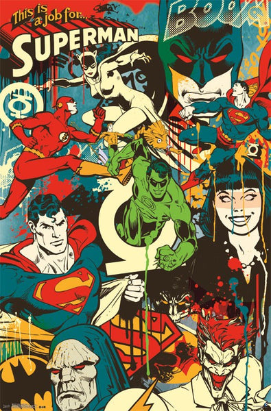 DC Comics Poster - Throwback 24x36 - FLM09663