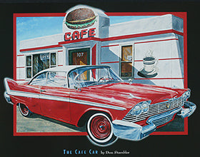 "Don Stambler - ""The Café Car"" (11x14) - FAR61007"