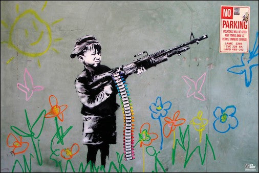 Banksy - 'Crayon Shooter' (24x36) - FAR21354