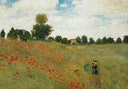 Claude Monet - 'Poppies (Poppy Field)' (24x36) - FAR36114