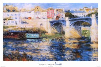 "P.A. Renoir- ""Bridge at Chatou"" (24x36) - FAR36415"