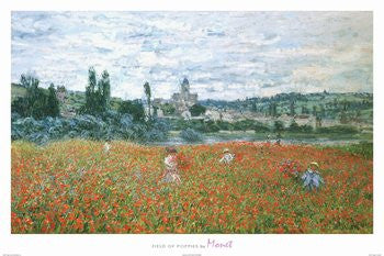 Claude Monet - 'Field of Poppies' (24x36) - FAR36423