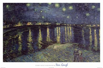 Vincent van Gogh - 'Starry Night Over Rhone' (24x36) - FAR36427