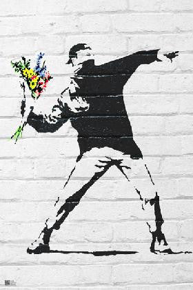 Banksy - Flower Thrower (24x36) - FLM00733