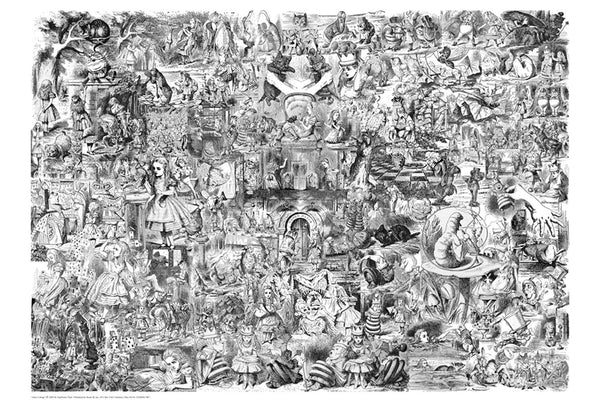 Alice in Wonderland (B&W) (24x36) - FLM03089
