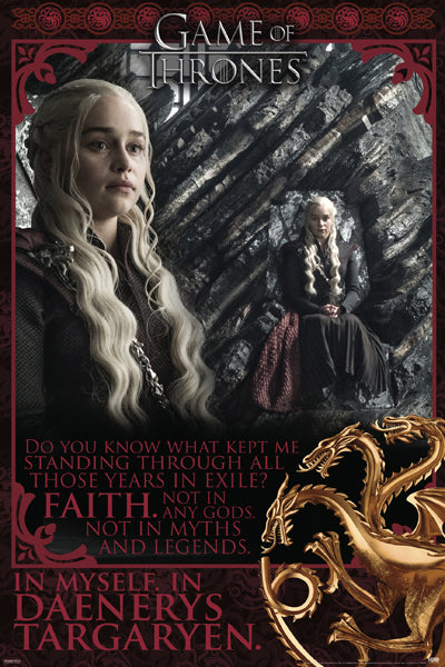 FLM16330 - Game Of Thrones Faith in Myself