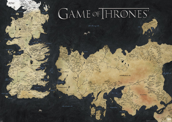 FLM56897 Game Of Thrones Map