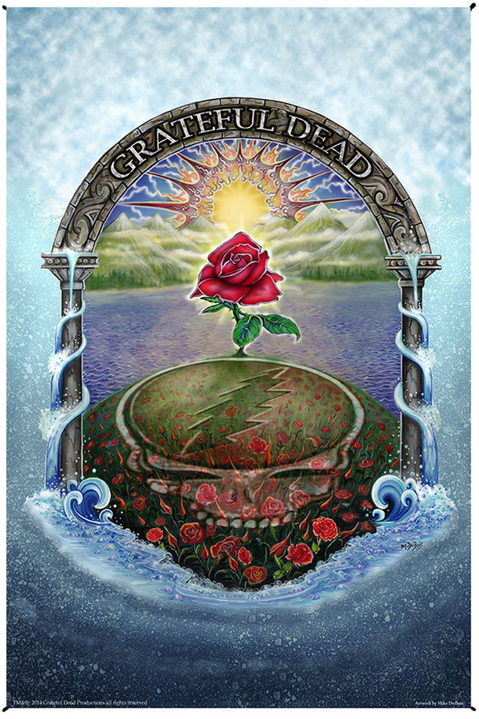 Grateful Dead Rose Garden Heady Art Print Tapestry