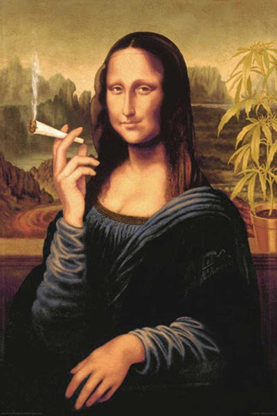 Mona Lisa - Smoking Joint (24x36) - HMR03305