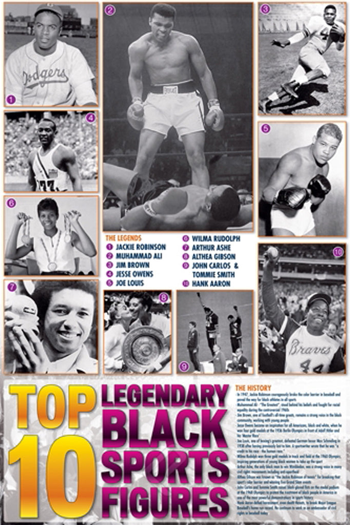 Legendary Black Sports Figures  ISP00003  24 X 36