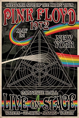 Pink Floyd - 1972 Dark Side Tour (24x36) - MUS41342