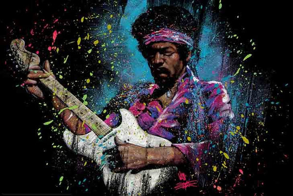 Fishwick, S. - Jimi Electric Glow (24x36) - MUS56221