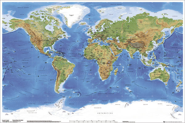 Nature Page GLOBAL PRINTS - 24x36 world map