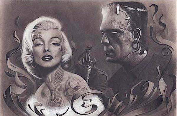 Frankenstein Tattooing Marilyn (24x36) - PIN52086