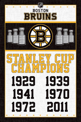 Boston Bruins - Stanley Cup Banners (24x36) - SPT13964