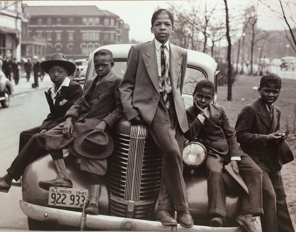 Russell Lee - 'Sunday Best, Southside Chicago Boys' (24x36) - BAW90003