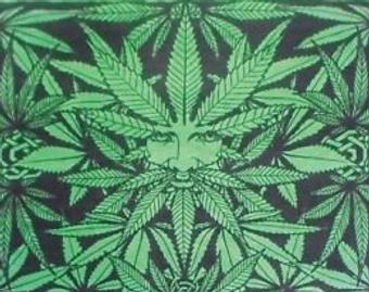 Ganja Man Green Tapestry