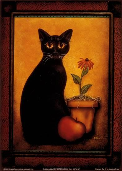 "Jessica Fries - ""Framed Cat II"" (11x14) - FAR61018"