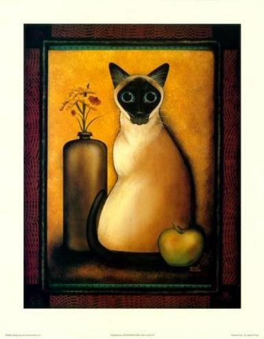 "Jessica Fries - ""Framed Cat"" (11x14) - FAR61017"