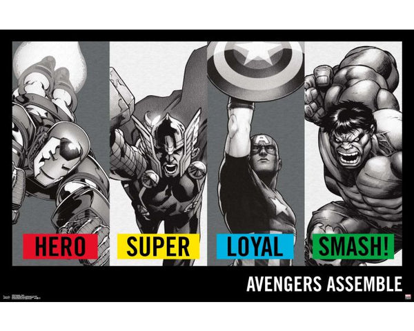 Avengers Traits Poster - 24 x 36 - FLM15649
