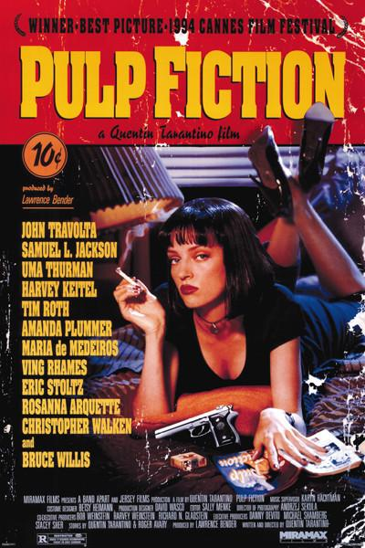 Pulp Fiction Uma on Bed