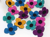 Bright Harris Tweed Flower Collar Accessory - Various Colours - BOWZOS