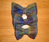 (Inverary) Bowzos Bow - Harris Tweed Khaki & Blue Check - BOWZOS