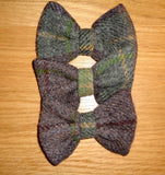 (Stirling) Bowzos Bow - Harris Tweed Country Brown Check - BOWZOS