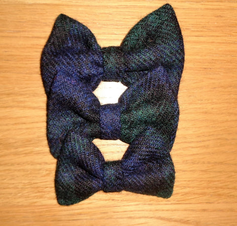 (Black Watch) Bowzos Bow - Harris Tweed Black Watch Tartan - BOWZOS