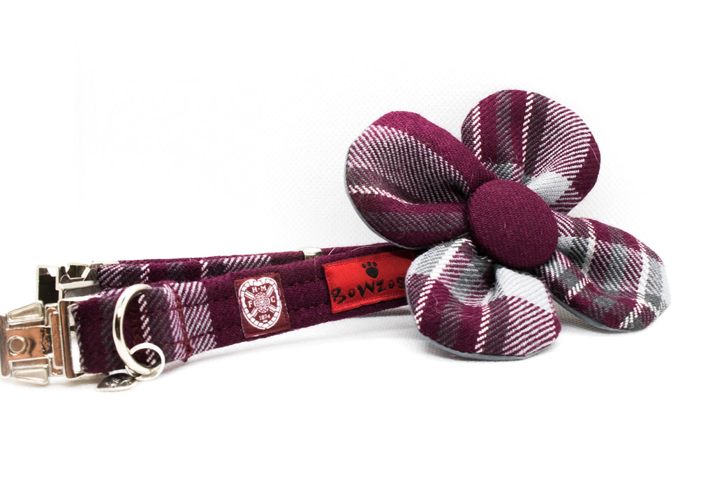 The Hearts FC Bowzos Dog Flower Collar - BOWZOS