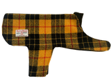 (MacLeod Modern Dress) Harris Tweed Dog Coat - MacLeod Tartan - BOWZOS
