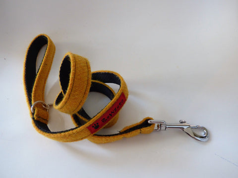 (Cairn) Harris Tweed Dog Lead - Citrus Yellow - BOWZOS