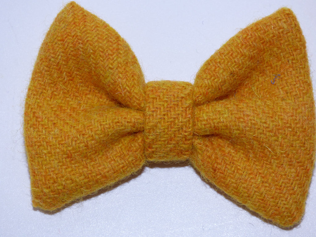 (Cairn) Bowzos Bow - Harris Tweed Citrus Yellow - BOWZOS