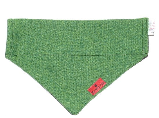 (Evergreen) Bowzos Harris Tweed Bandana -  Green - BOWZOS