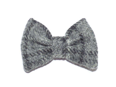 (Greyfriars) Bowzos Bow - Harris Tweed Grey Check - BOWZOS