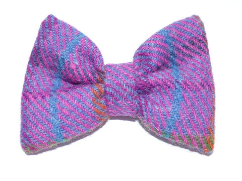(Jura) Bowzos Bow - Harris Tweed Purple Check - BOWZOS