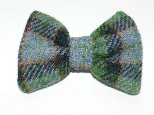 Bowzos Bow - Harris Tweed Grass Green  Check - BOWZOS