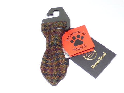 (Bobby) Houndstooth Bowzos Harris Tweed Dog Tie - BOWZOS