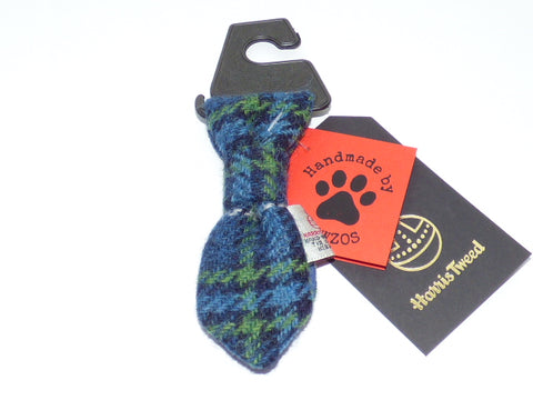 (St Andrews) Bowzos Harris Tweed Dog Tie - Blue & White Check - BOWZOS