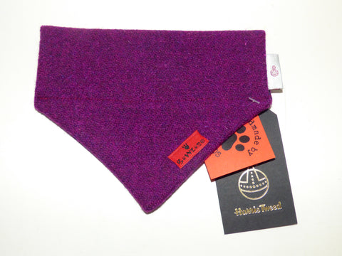 (Caledonian) Bowzos Harris Tweed Bandana - Dark Purple - BOWZOS