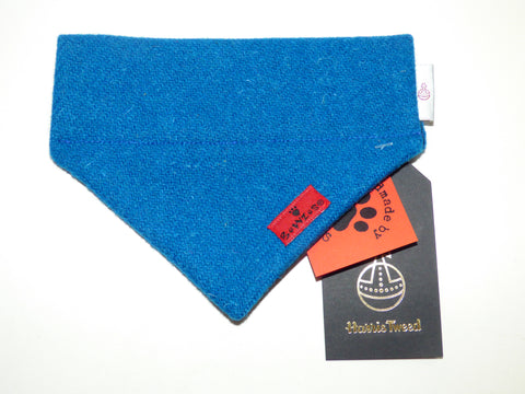 (Bonnie) Bowzos Harris Tweed Bandana - Blue - BOWZOS