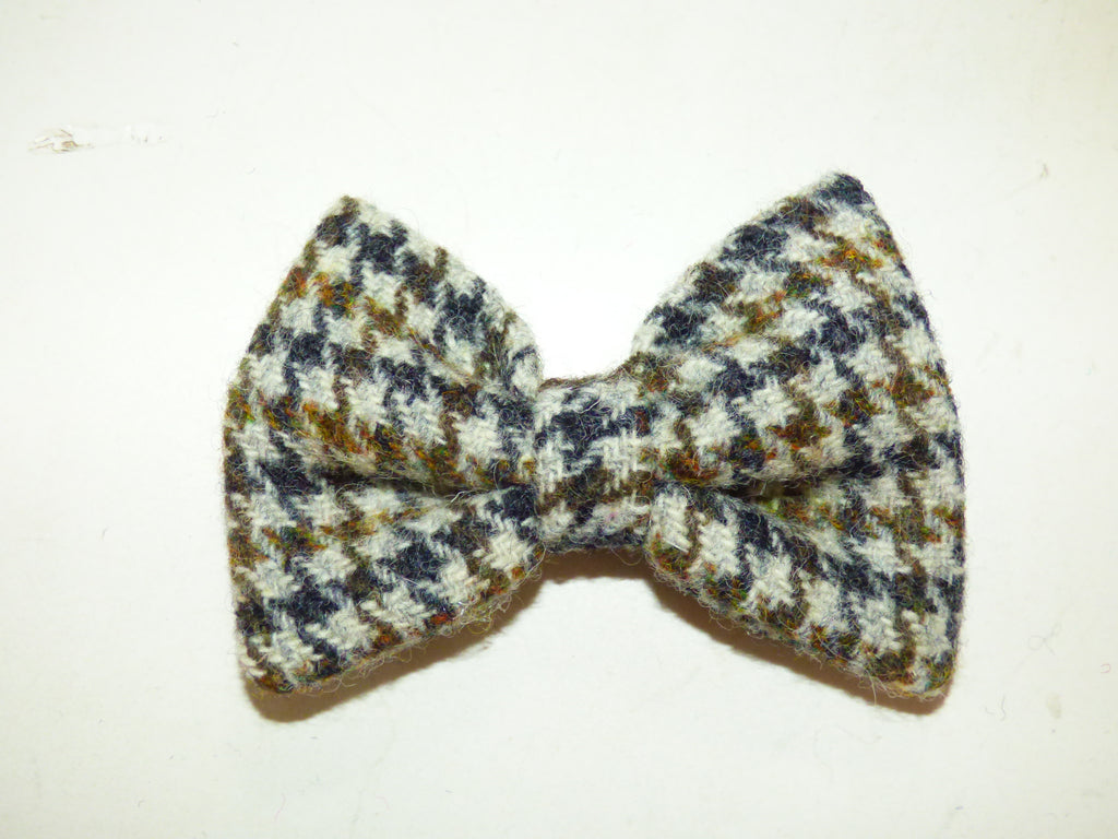 (Harris) Houndstooth Harris Tweed Bow - BOWZOS