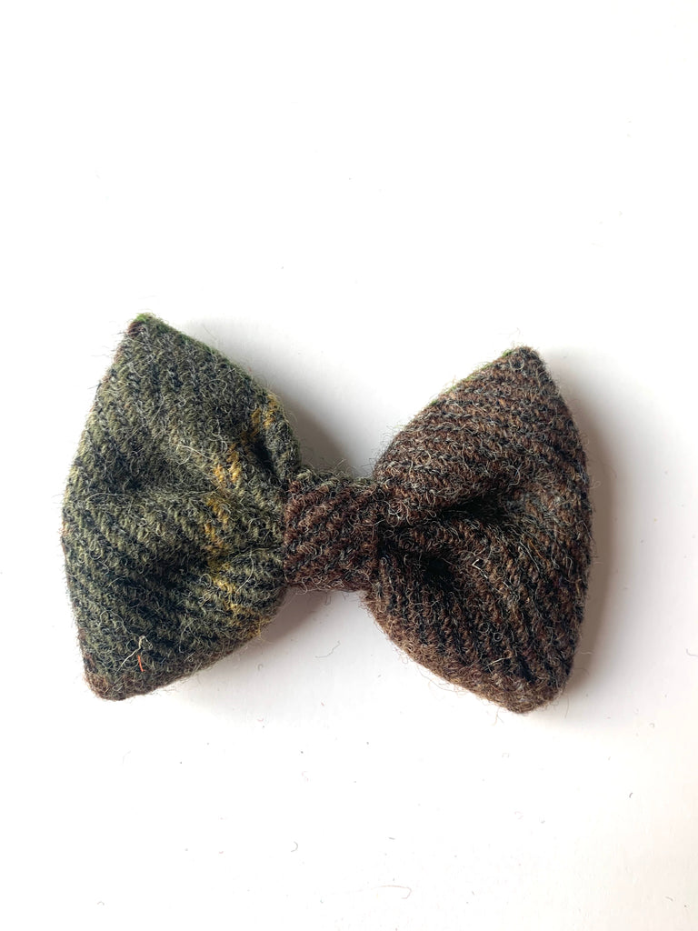 (Stirling) Bowzos Bow - Harris Tweed Country Brown Check