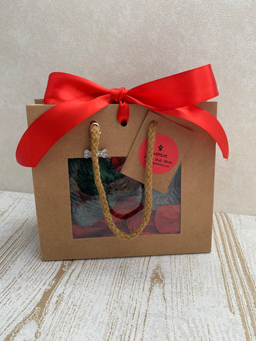 Harris Tweed Bowzos Bow in a Bag for Christmas - Any Colour