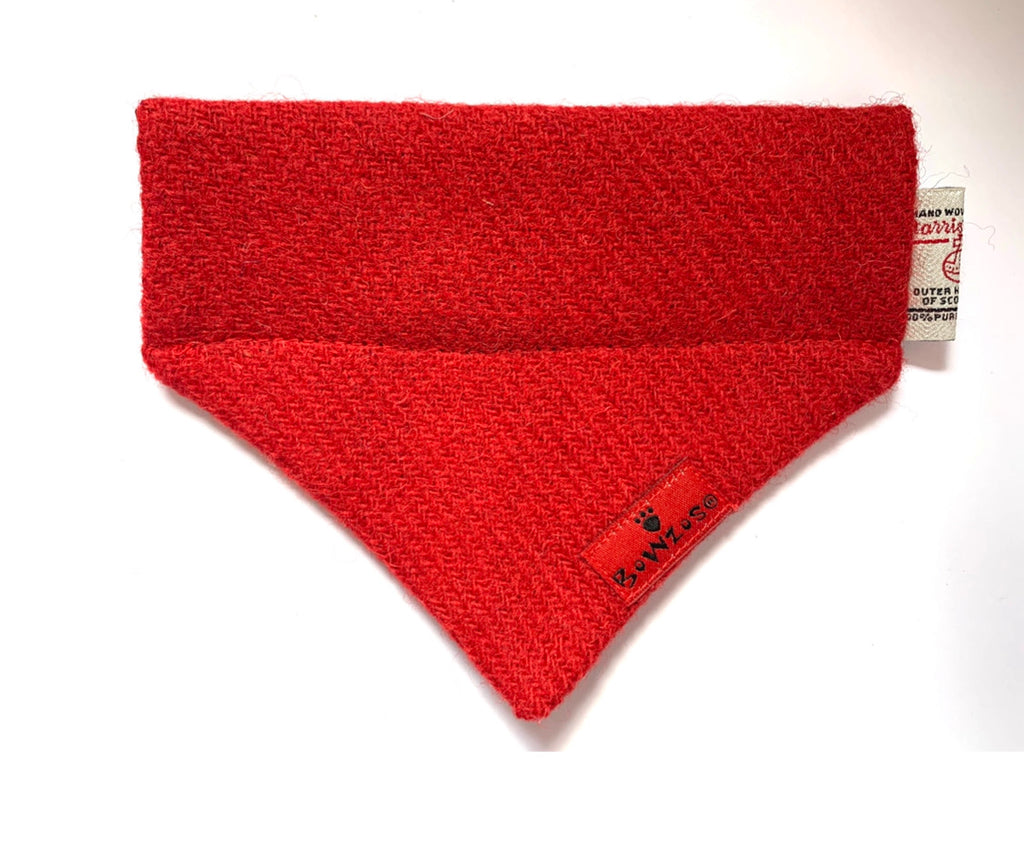 (Cranberry) Bowzos Harris Tweed Bandana