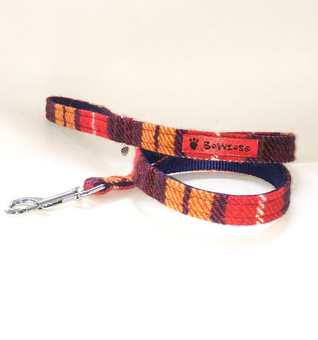 (Bute) Harris Tweed Dog Lead - Tartan - BOWZOS