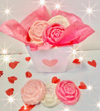Bowzos Valentines Wax Melt Roses Bouquet (Free UK Delivery)