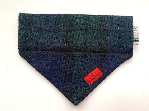 (Black Watch) Bowzos Harris Tweed Bandana - Black Watch Tartan
